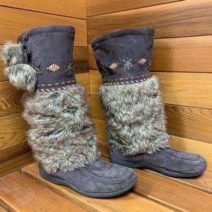 Soft Moc Candy Dark Brown Mukluks Suede Boots